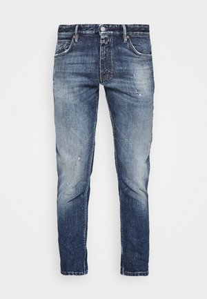 DROP CROPPED - Jeans Tapered Fit - mid blue