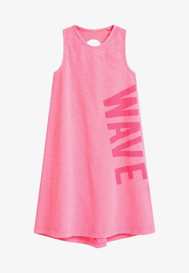 SLEEVELES - Žerzejové šaty - pink
