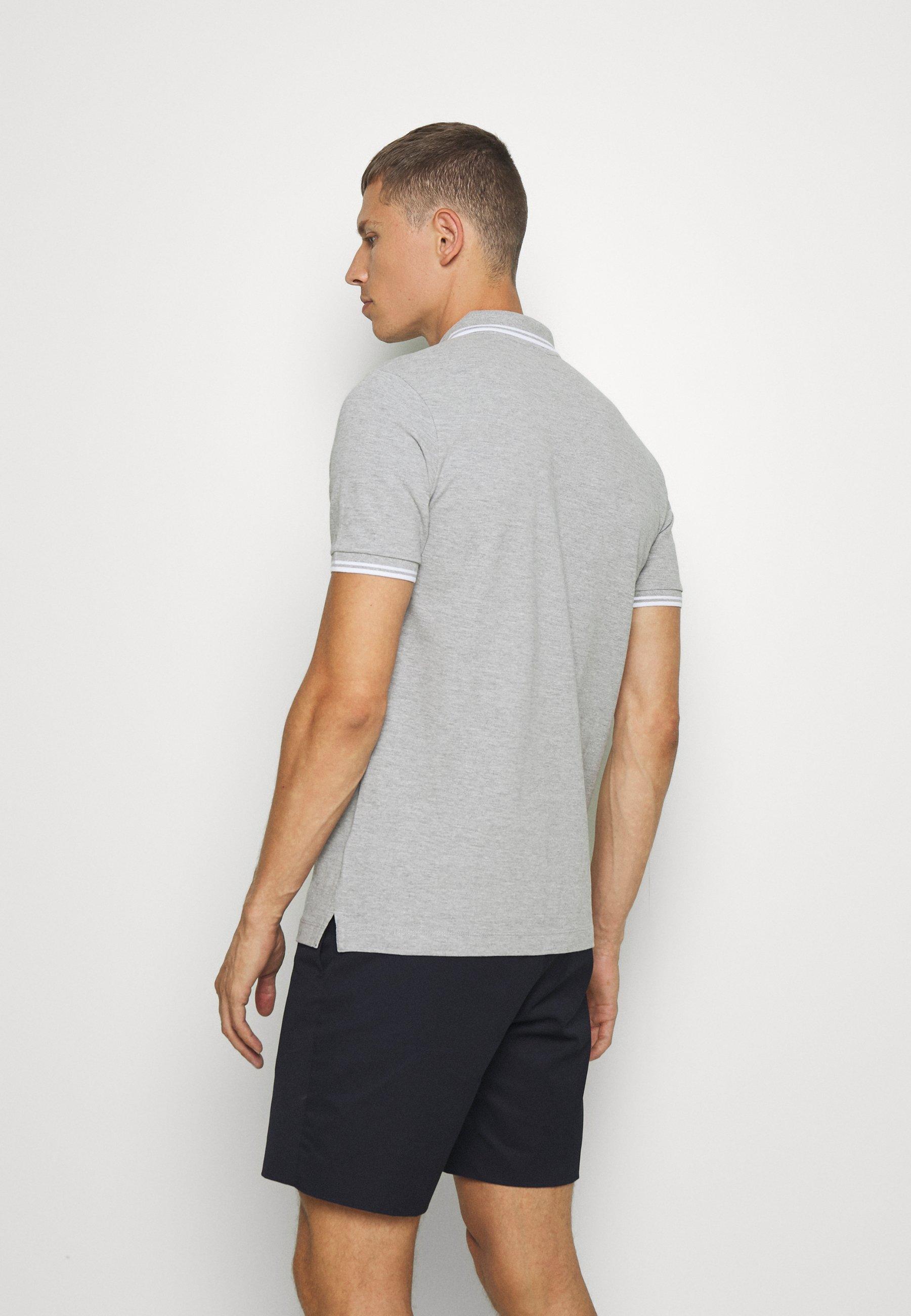 Lindbergh CONTRAST PIPING - Polo shirt - light grey 9UbKC