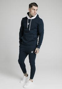 SIKSILK - SIKSILK TEXTURED TAPE OVERHEAD HOODIE - Felpa - navy - 1