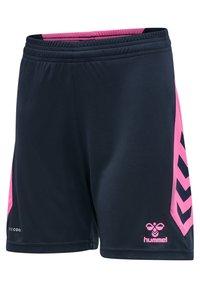 Hummel - HMLACTION  - Sports shorts - black iris/sugar plum - 2
