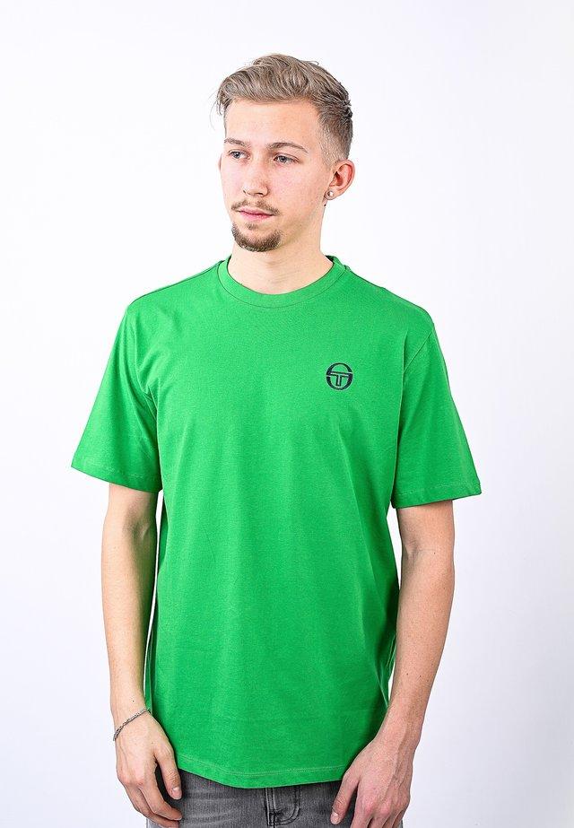 SERGIO - Basic T-shirt - fgreen/nav