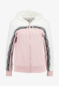 adidas Originals - TAPE TRACK HOODIE - Sweatjacke - white/pink spirit - 5