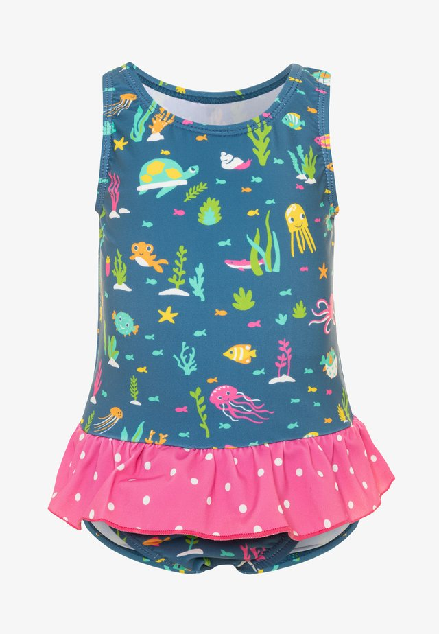 OEKO TEX LITTLE CORAL REEF SWIMSUIT BABY - Badedrakt - blue