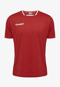 Hummel - Print T-shirt - true red - 0