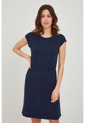 Jersey dress - navy blazer