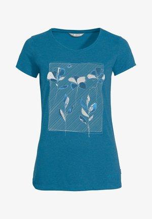Print T-shirt - kingfisher uni