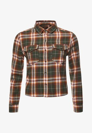 HERITAGE CHECK CROPPED - Button-down blouse - drayton check olive