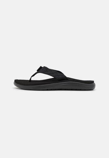 VOYA - Sandály s odděleným palcem - mahani black