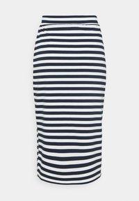 Vila - VITINNY  - Spódnica ołówkowa  - snow white/navy blazer stripes - 1