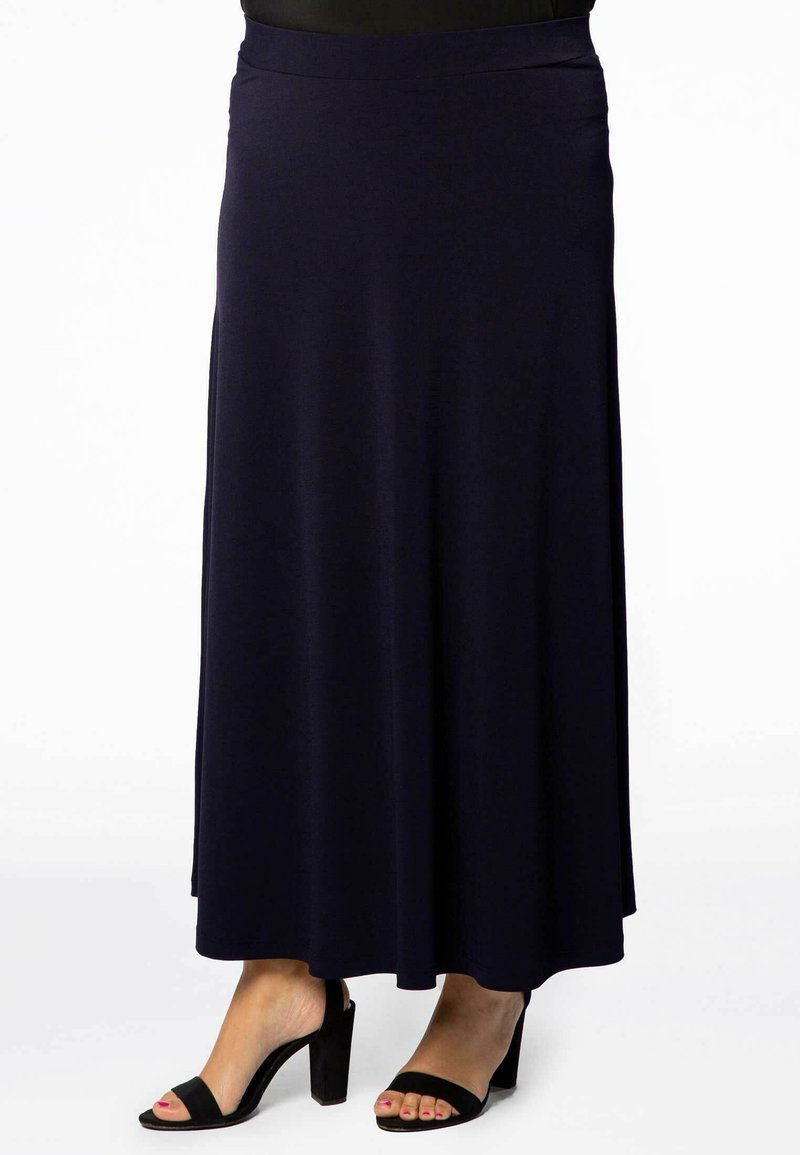 Yoek - Maxi skirt - navy