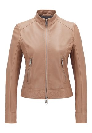 JABELIA - Leather jacket - beige