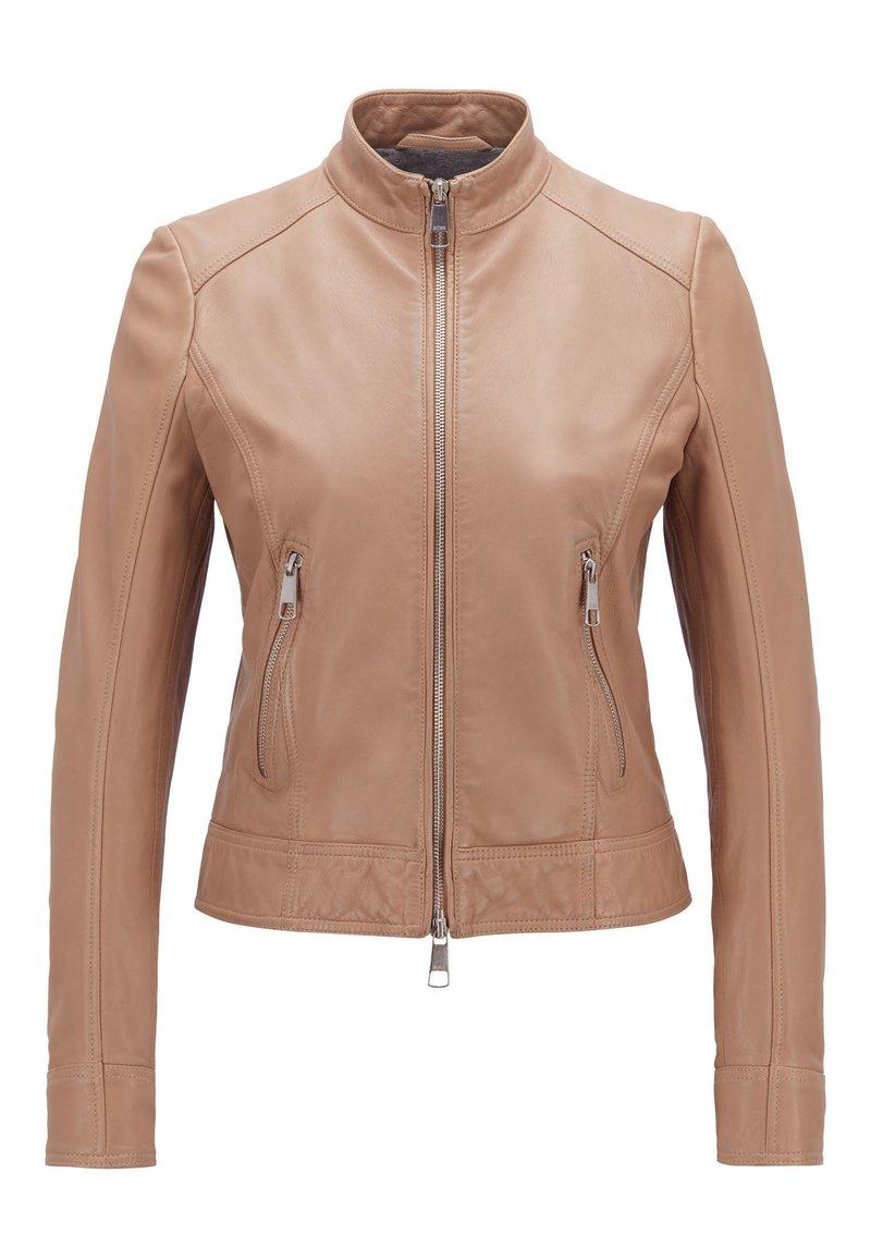 BOSS - JABELIA - Leather jacket - beige