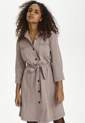 CRANETT  - Shirt dress - faded brown melange