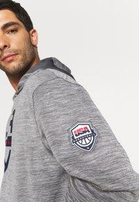Nike Performance - TEAM USA SPOTLIGHT HOODIE - Sweatshirt - dark grey heather/dark grey - 4