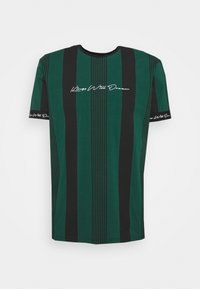 VEDTON STRIPE TEE - T-shirt print - evergreen/black