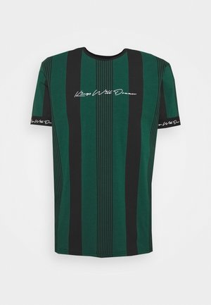 VEDTON STRIPE TEE - T-shirt imprimé - evergreen/black
