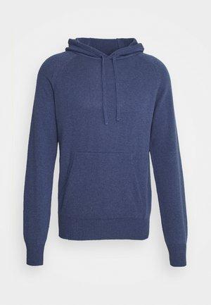 HOODIE - Stickad tröja - navy