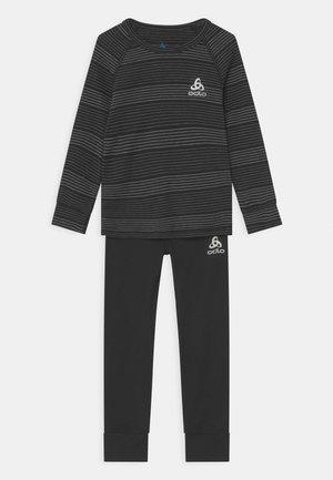 LONG ACTIVE WARM ECO SET UNISEX - Unterhemd/-shirt - black grey melange