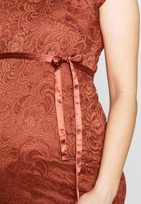 MAMALICIOUS - MLNEWMIVANA DRESS - Vestido de cóctel - arabian spice - 4
