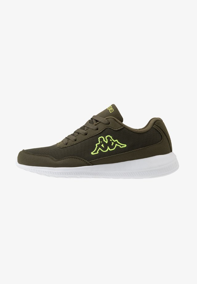 FOLLOW  - Sports shoes - army/lime
