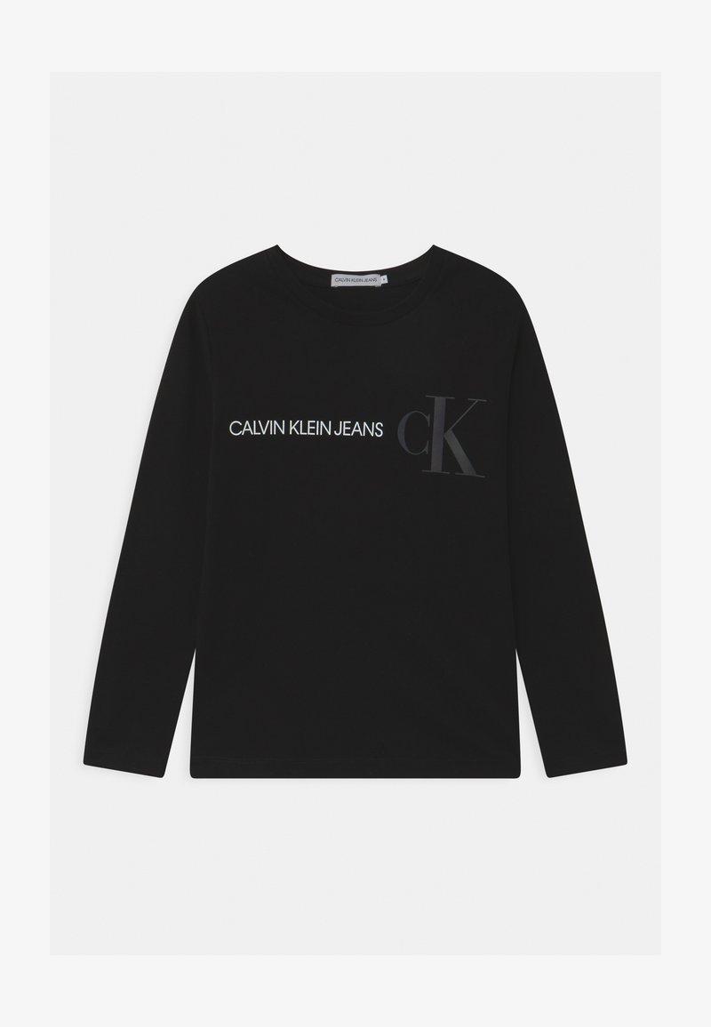 Calvin Klein Jeans - REFLECTIVE LOGO  - Top sdlouhým rukávem - black