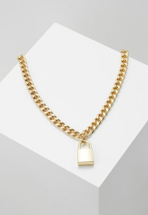 PADLOCK NECKLACE - Náhrdelník - gold-coloured