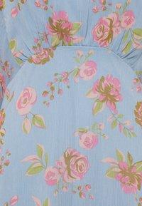 Vila - VIDIANELLA O NECK MIDI  DRESS - Cocktail dress / Party dress - ashley blue/pink - 2