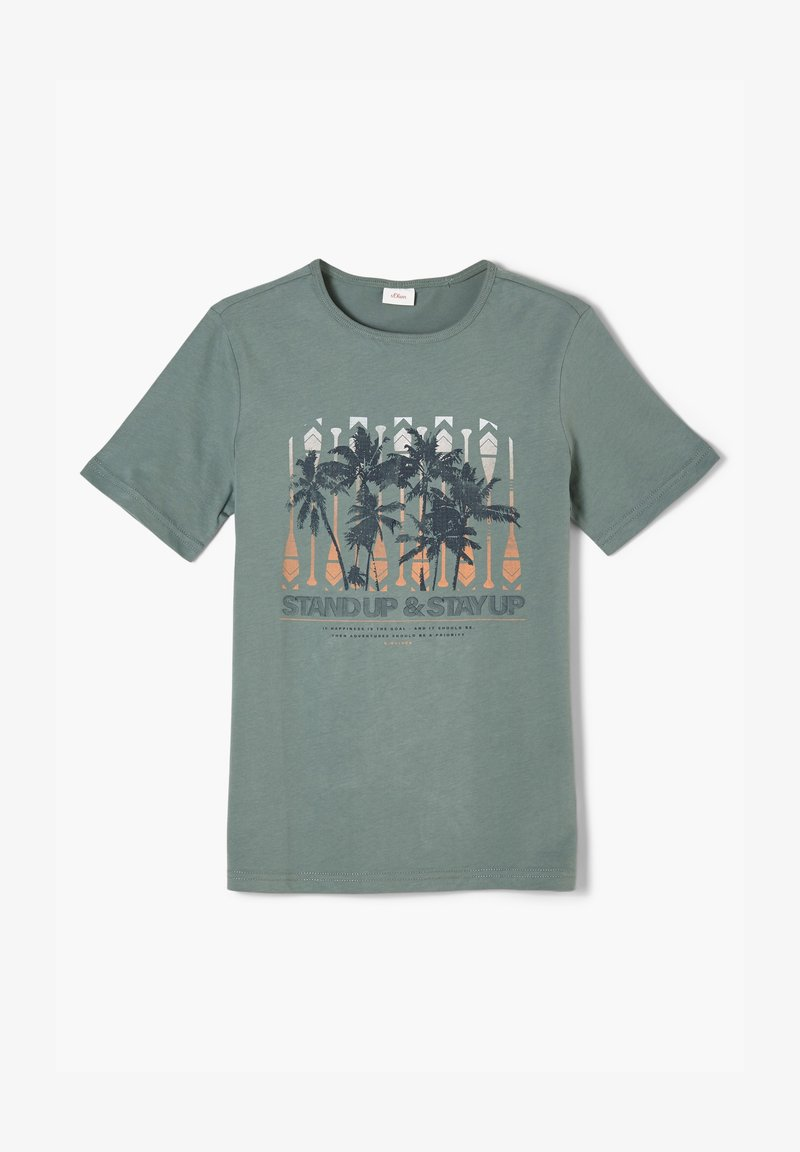 s.Oliver - Print T-shirt - petrol