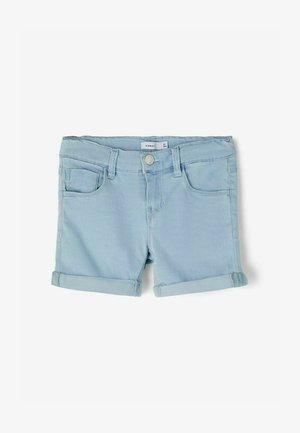 SLIM FIT - Shorts vaqueros - light blue denim