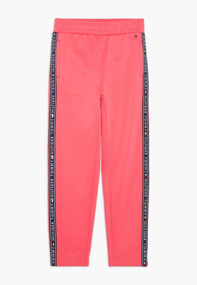 TAPE TRACKPANTS - Pantalones deportivos - pink