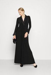 Adrianna Papell - TWIST TUXEDO GOWN - Jersey dress - black - 1