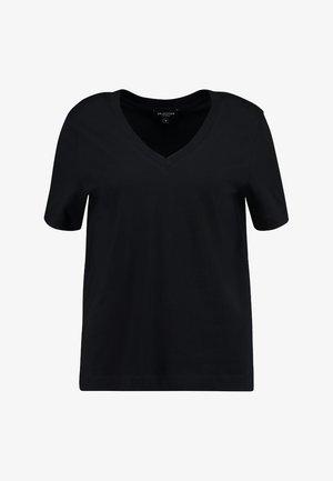 SLFSTANDARD  V NECK TEE  - T-shirts - black