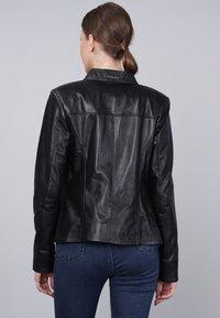 Basics and More - Leather jacket - black - 1