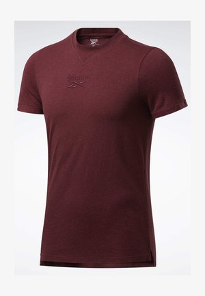 TRAINING ESSENTIALS MÉLANGE T-SHIRT - T-shirts basic - red