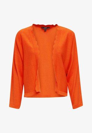 BOLERO W LACE - Strikjakke /Cardigans - red orange