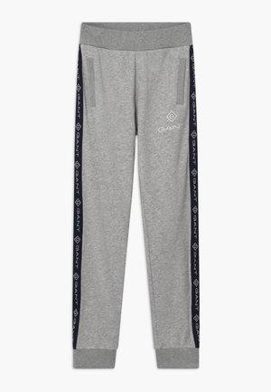 LOCK UP STRIPE - Teplákové kalhoty - light grey melange