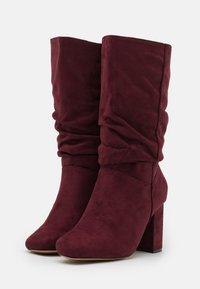 Dorothy Perkins Wide Fit - WIDE FIT BLOCK BOOT - Boots - burgundy - 2
