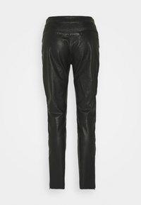 Belstaff - FREYA TROUSER - Leather trousers - black - 7