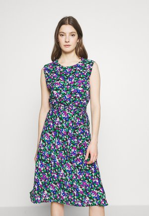 DRAPEY POLY DRESS - Denní šaty - black/multi