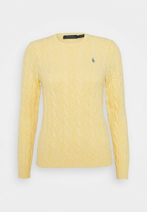 LONG SLEEVE - Strickpullover - light yellow ragg