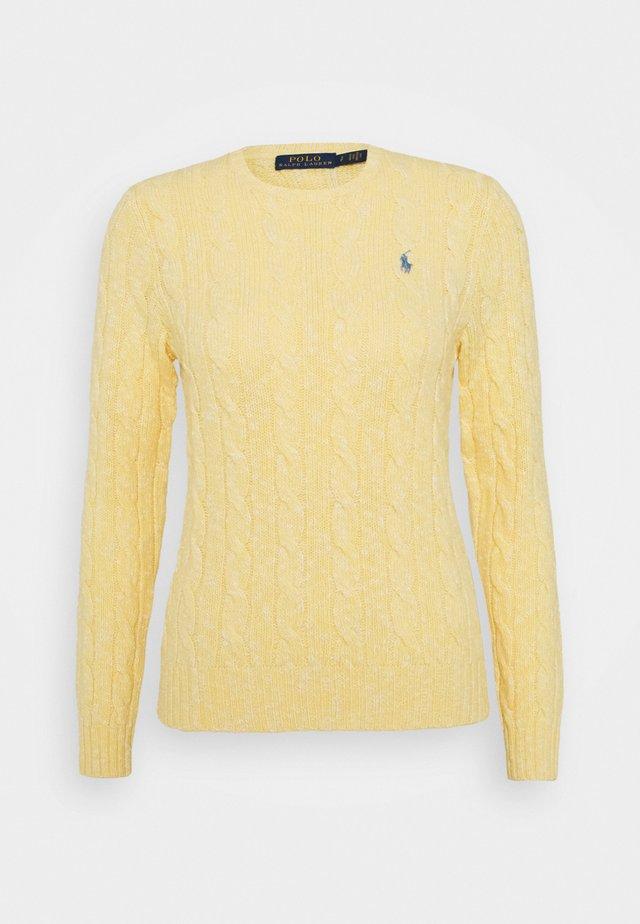 LONG SLEEVE - Strickpullover - light yellow ragg