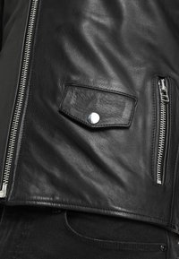 Goosecraft - GALLERY - Leather jacket - black/offwhite - 6