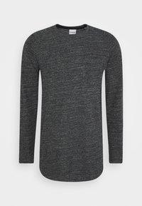 Jack & Jones - JCOOZIL TEE CREW NECK - Stickad tröja - black melange - 4