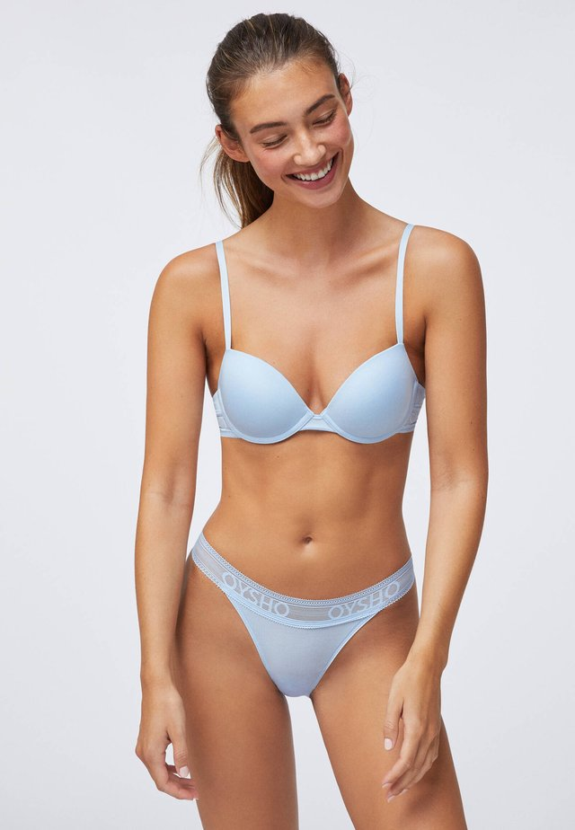 MIT LEICHTER WATTIERUNG - Push-up bra - light blue
