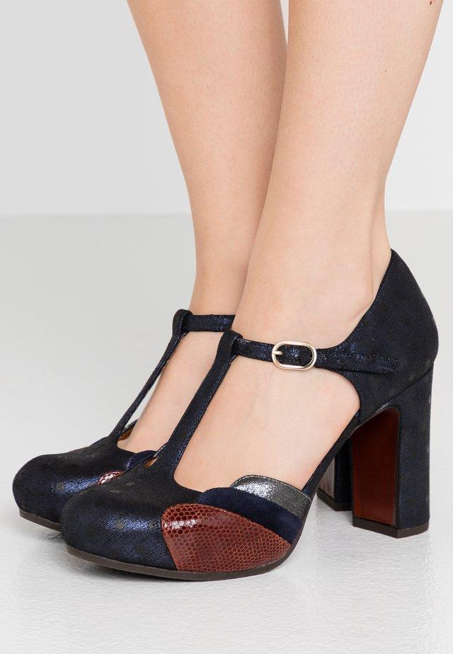 DIDO - High heels - amira navy/palais terra/noche/lame silver