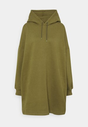 OVERSIZED HOODIE DRESS - Day dress - khaki