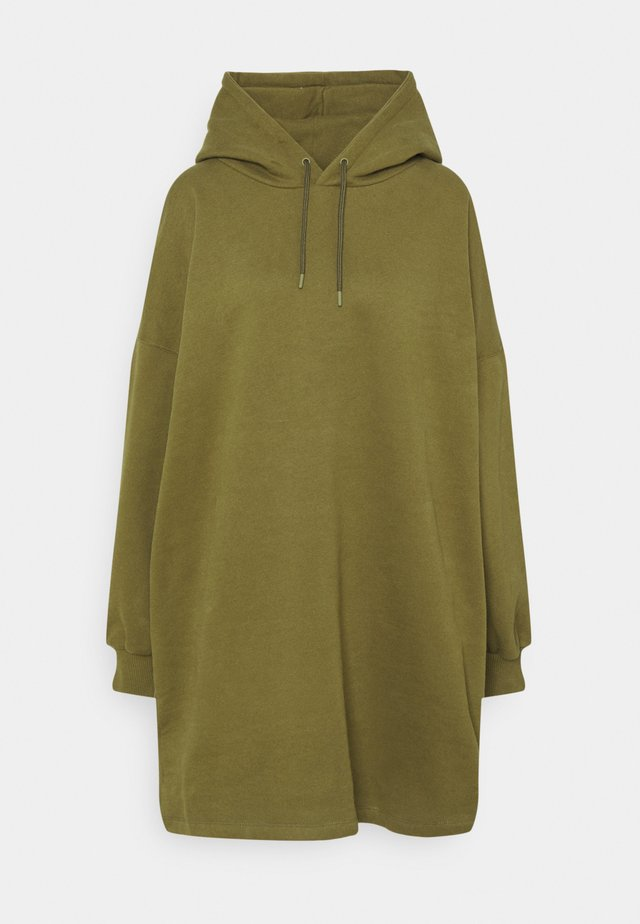 OVERSIZED HOODIE DRESS - Kjole - khaki