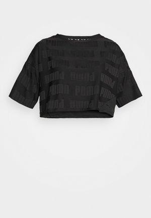TRAIN FIRST MILE MONO TEE - Print T-shirt - black