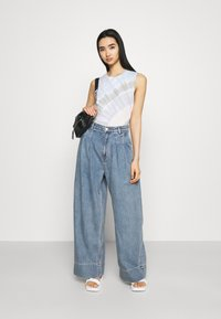 Monki - NANI PALAZZO - Straight leg jeans - blue medium dusty - 1